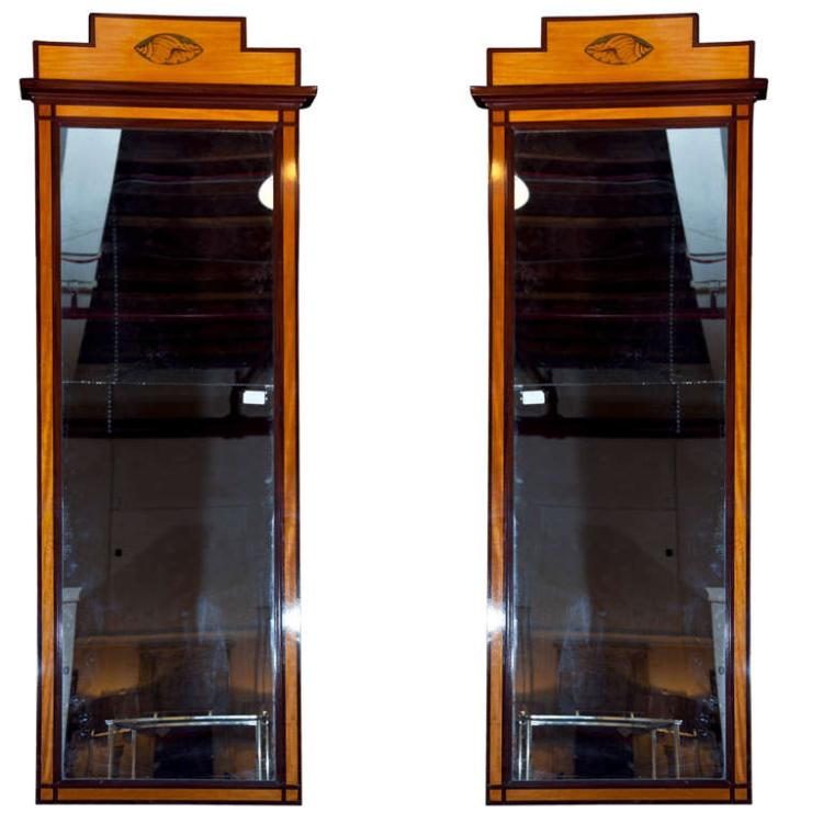 Pair of Antique Pier Mirrors