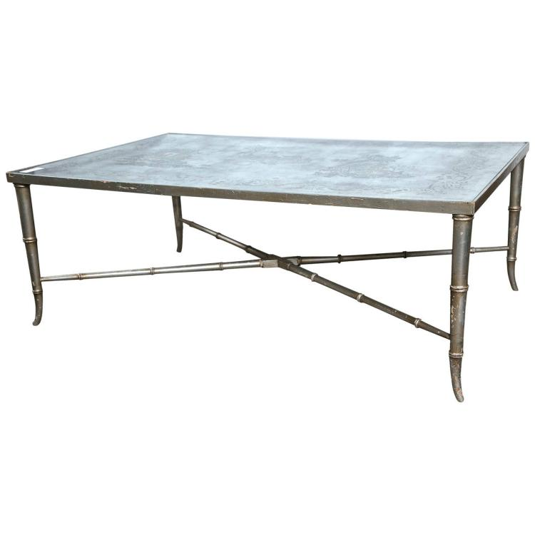 ?glomis? Chinoiserie Glass Top Coffee Table by Maison Jansen