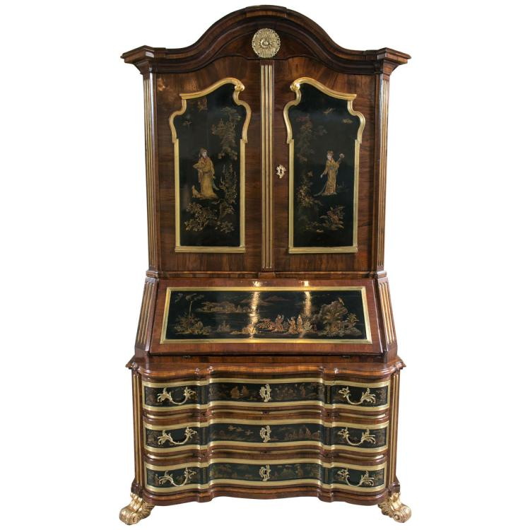 Early 19th Century Chinoiserie Secretary with Bronze Mounts
