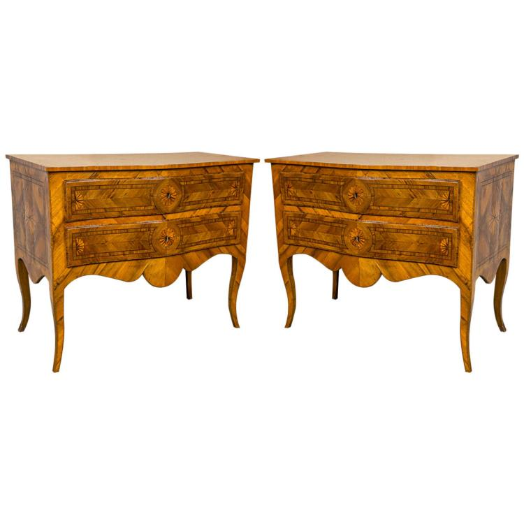 Pair of Neoclassical German / Austrian 18th Century Commodes
