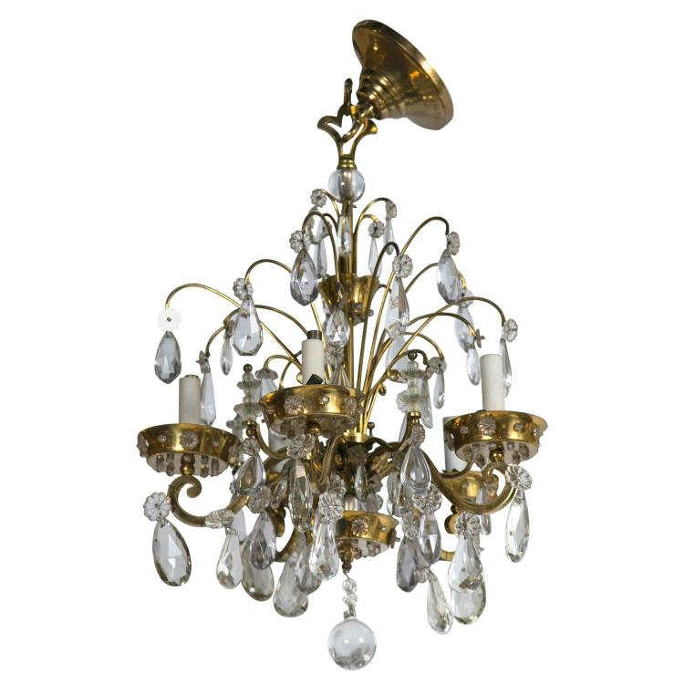 French Art Deco Chandelier by Maison Jansen