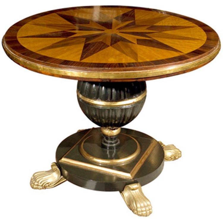 19th Century Continental Center Tables