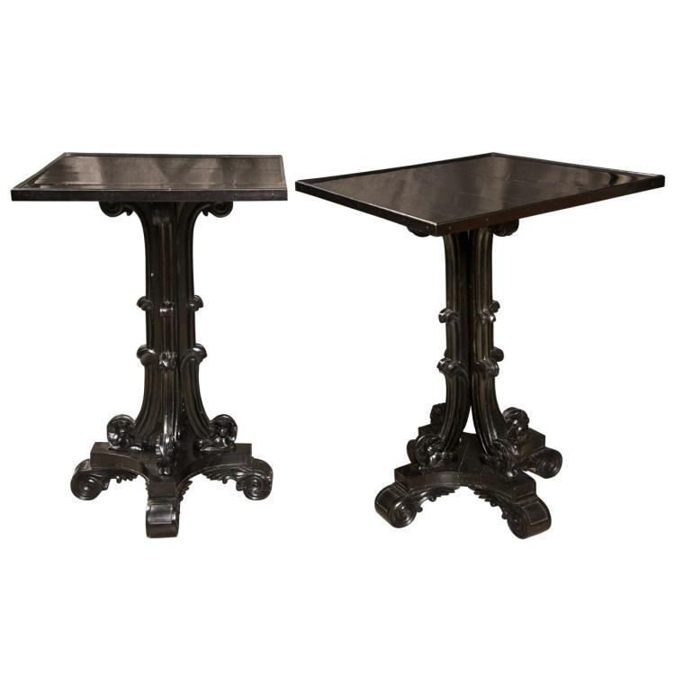 Pair of Early 19th Century Ebony Side Tables