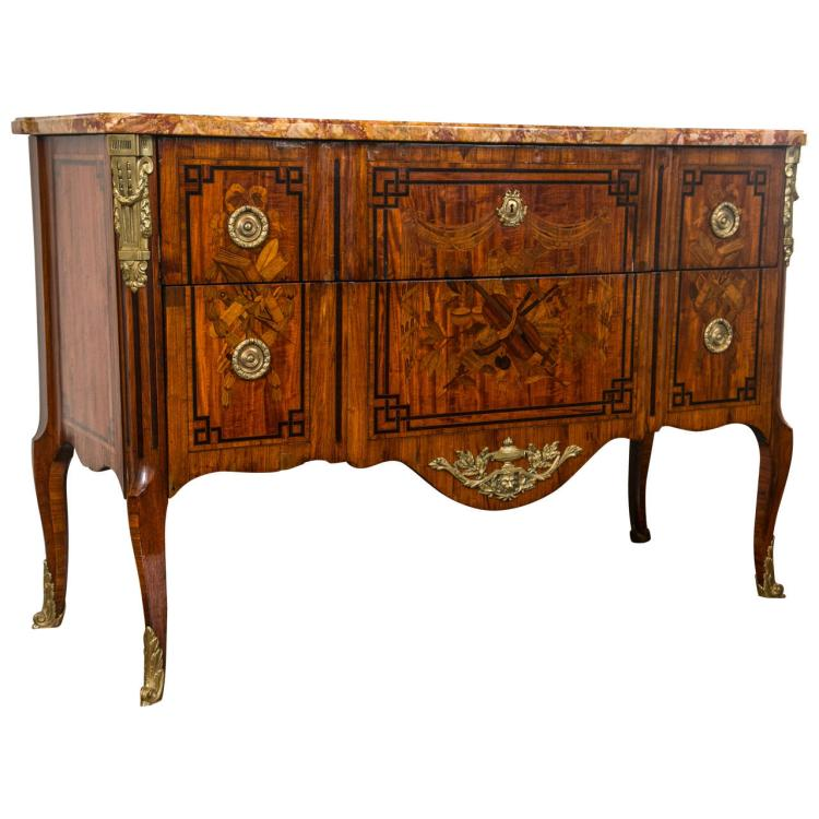19th Century French Marquetry Commode