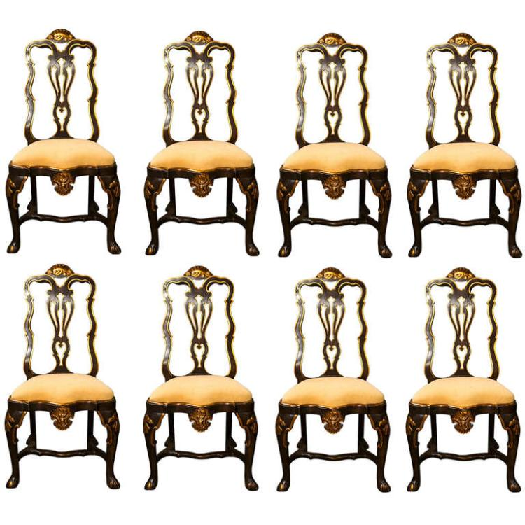 A Set of Eight Fine Maison Jansen Dining Chairs