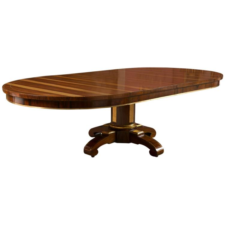 19th Century Rosewood Russian Style Dining Table
