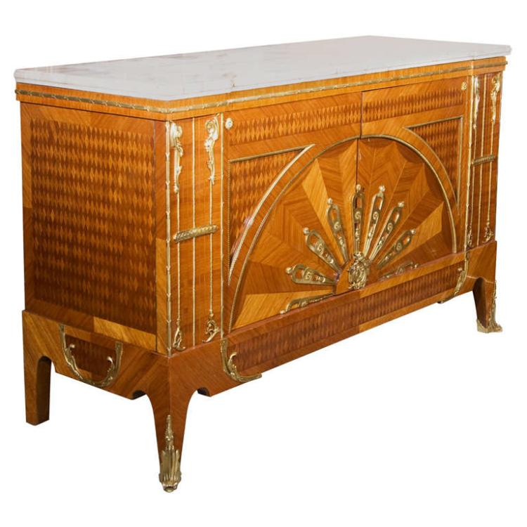 Art Deco Mar Custom Quality Marble Top Commode