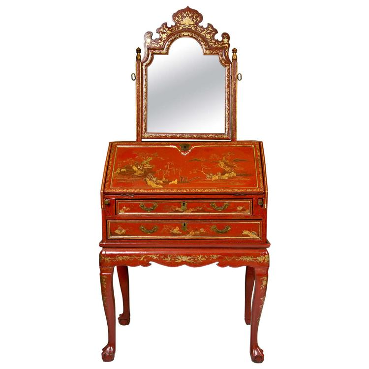 19C Painted Chinoiserie Vanity