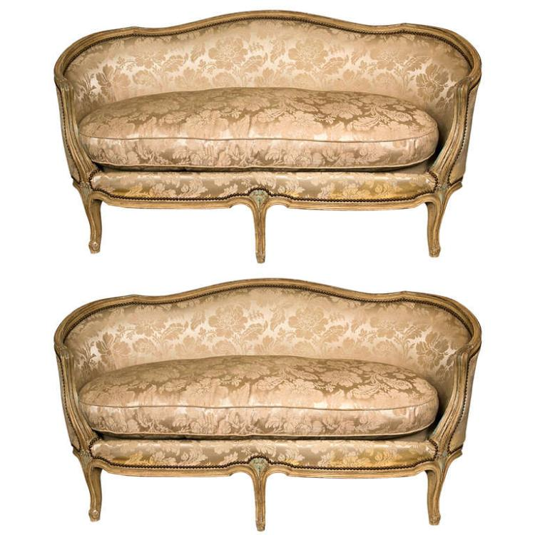 Pair of Louis XV Style Canapes by Jansen
