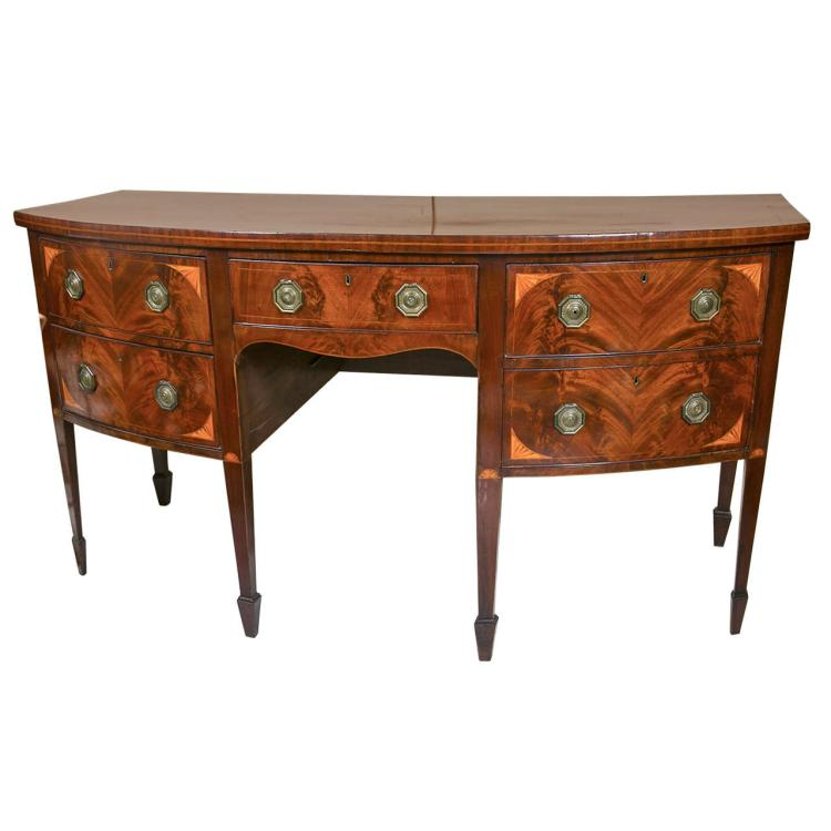 English Georgian Style Mahogany Sideboard