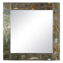 A Spectacular Mirror by Jansen, Verne Eglomise Decorated