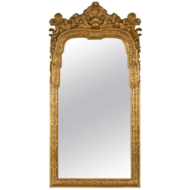 Gilt Wooden Wall Console Mirror