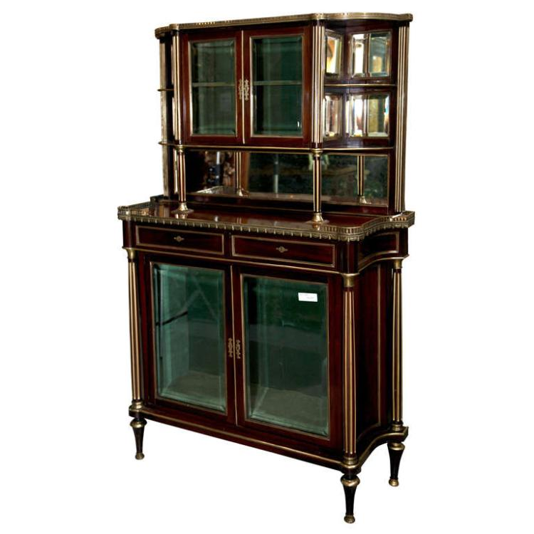 French Louis XIV Style Mahogany Server Cabinet by Jansen