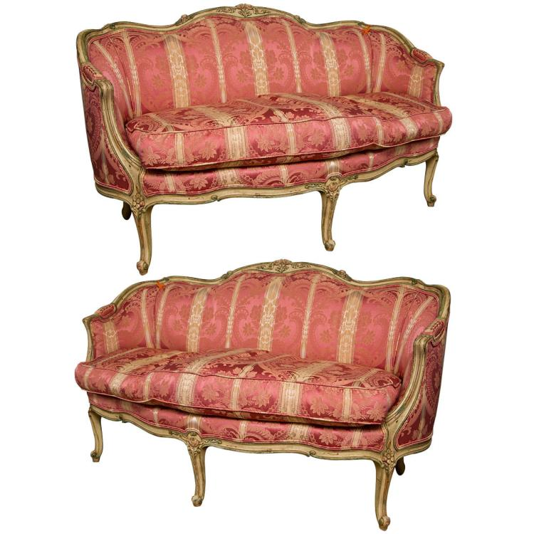 Fine Pair of French Louis XV Settees - Canapes by Widdicomb