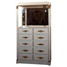 French Empire Style Painted Vanity Dresser by Grosfeld House
