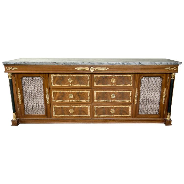 Palatial Empire Style Sideboard or Console Table