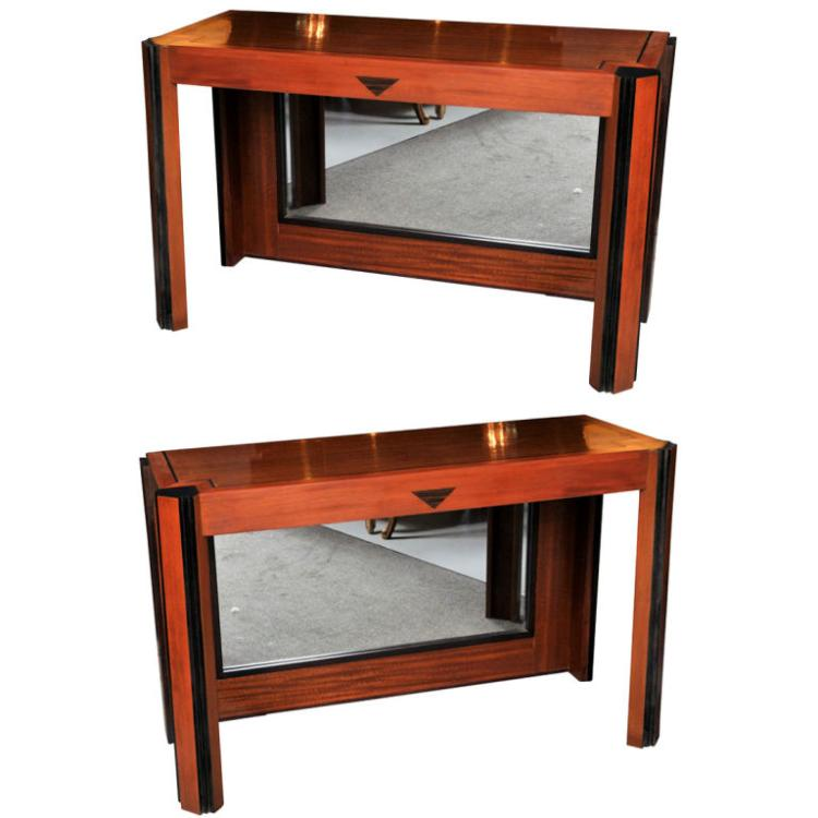 Pair of Art Deco Pier Tables