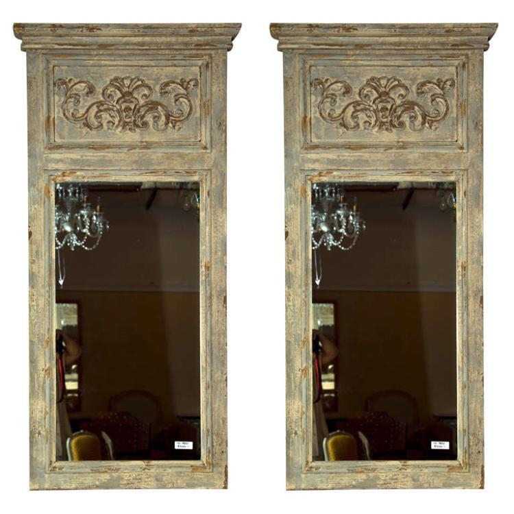 Pair of Swedish Gustavian Style Trumeau Mirrors
