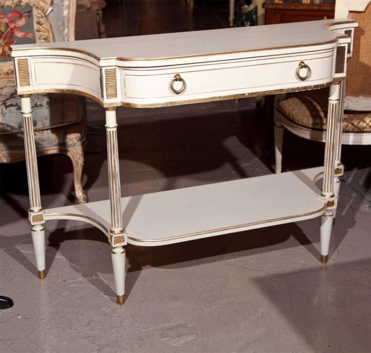 French Painted Serving Console Table Maison Jansen