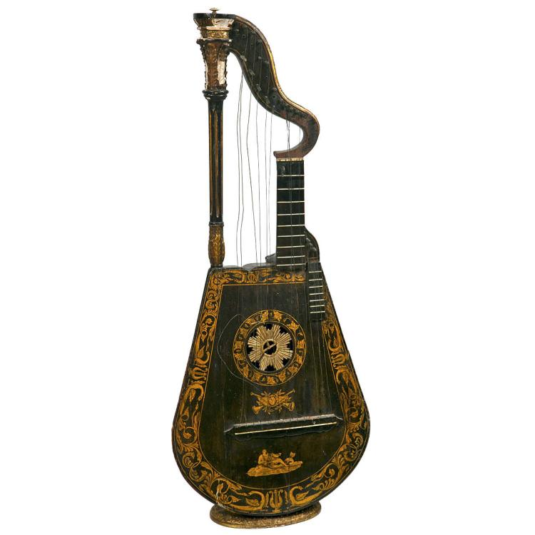 An 19th Century Harp Lute Edward Light
