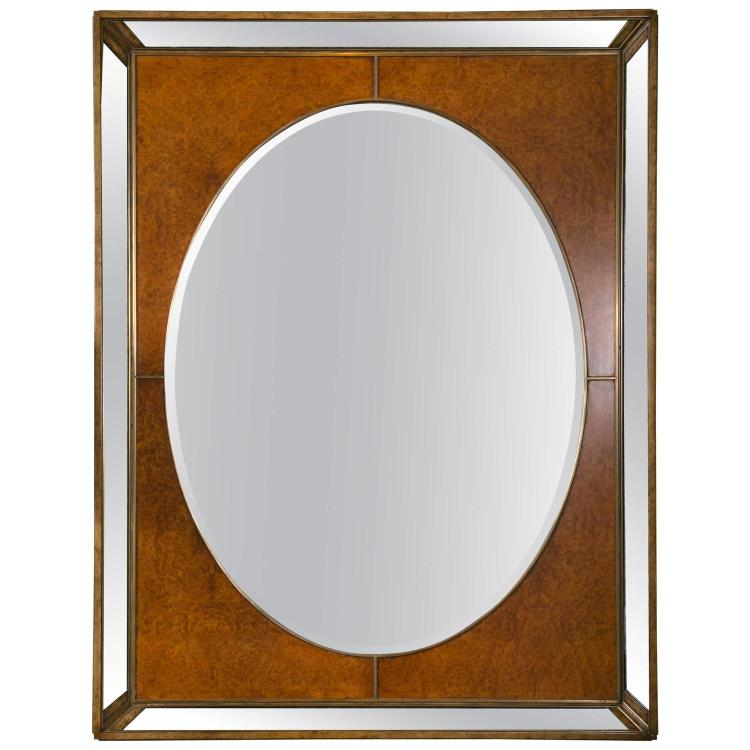 Monumental Burl and Glass Art Deco Mirror