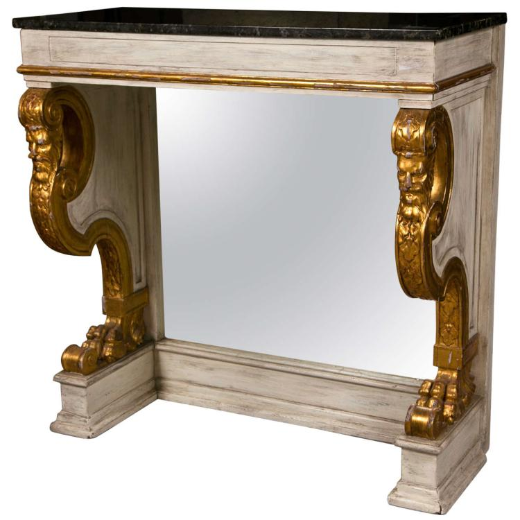 French Neoclassical Style Pier Console Table Jansen