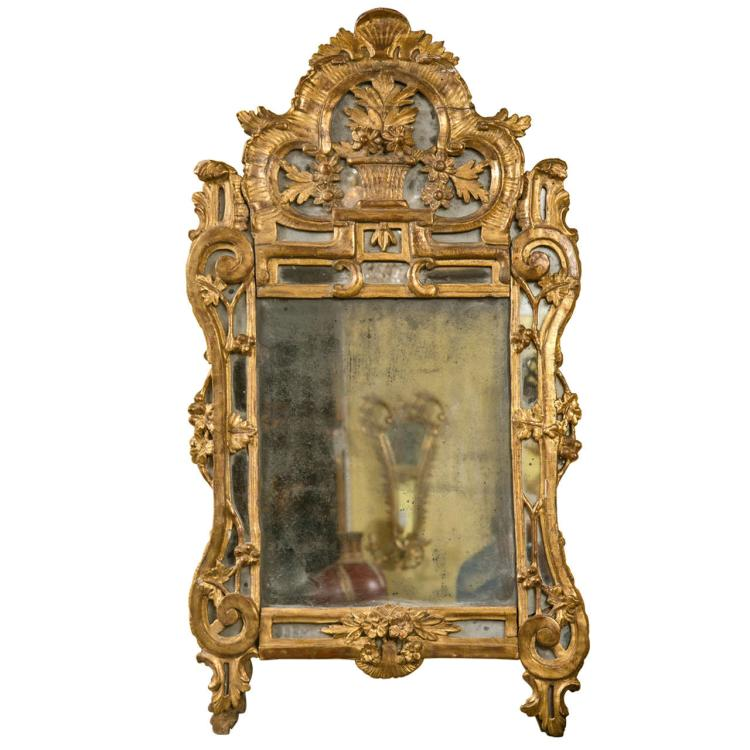 French 18th Century Giltwood Mirror
