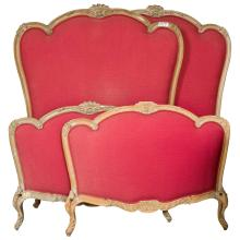 Pair of French Louis XV Style Twin Bed Frames by Jansen