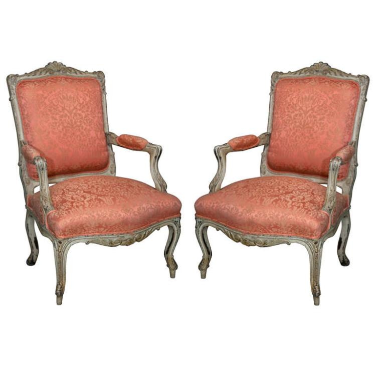 Pair French Bergere Chairs by Jansen