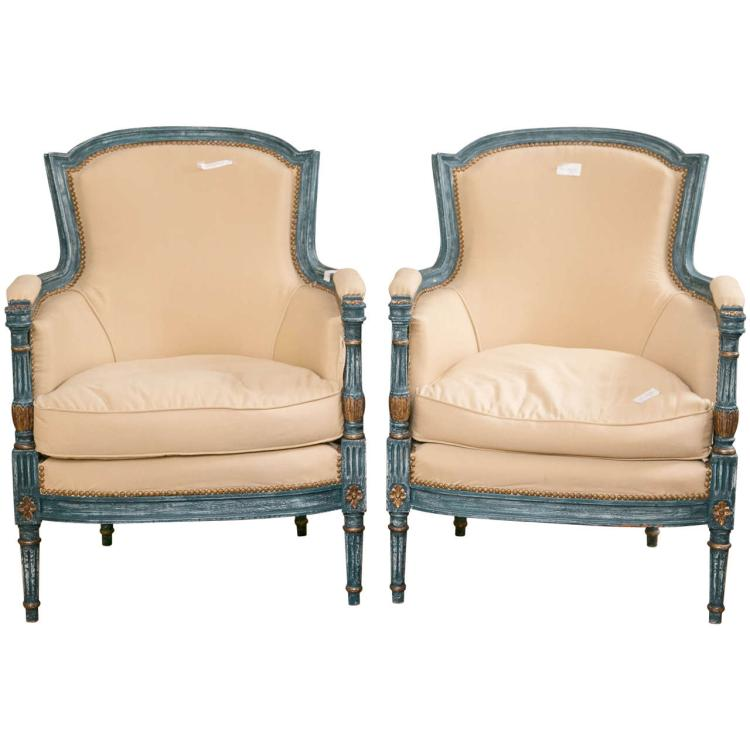 Pair of Louis XVI Style Chairs by Maison Jansen