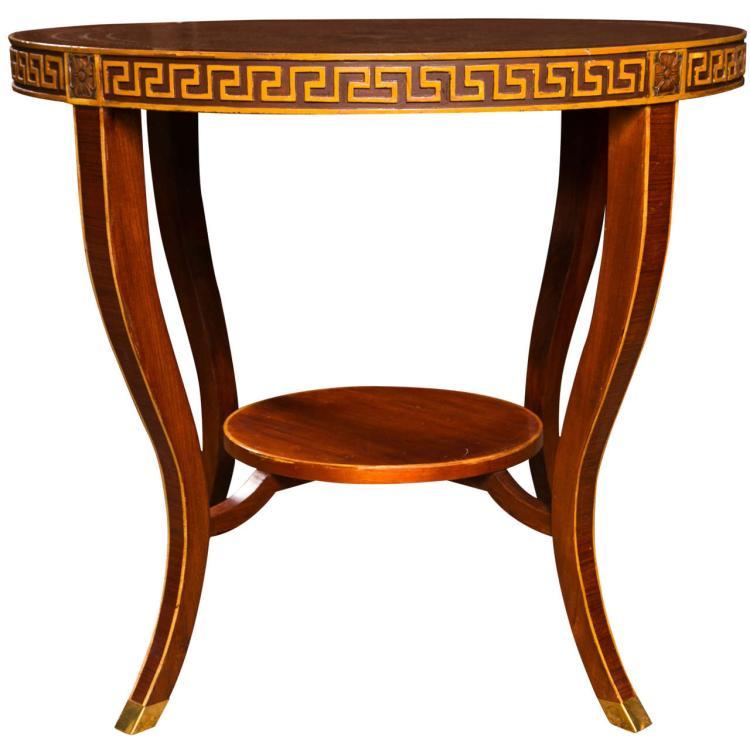 Regency Style Rosewood Gueridon Center Table by Jansen