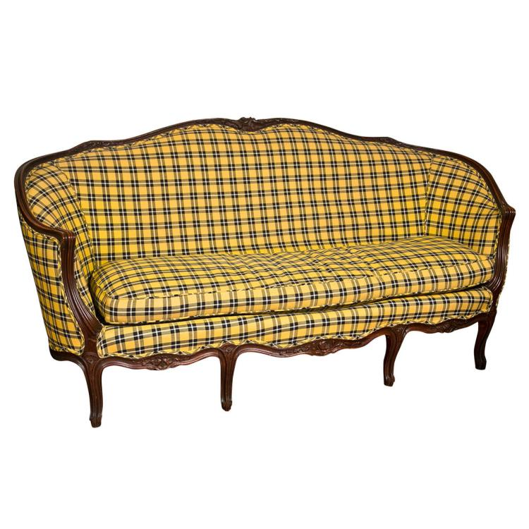 Louis XV Style Couch in Ralph Lauren Upholstery
