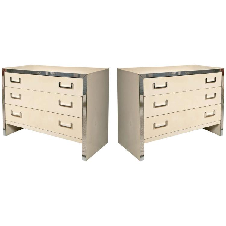 Pair of John Stuart Modernism Chests of Drawers