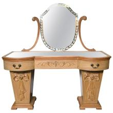 Hollywood Regency Dorothy Draper Style Mirror Top Vanity