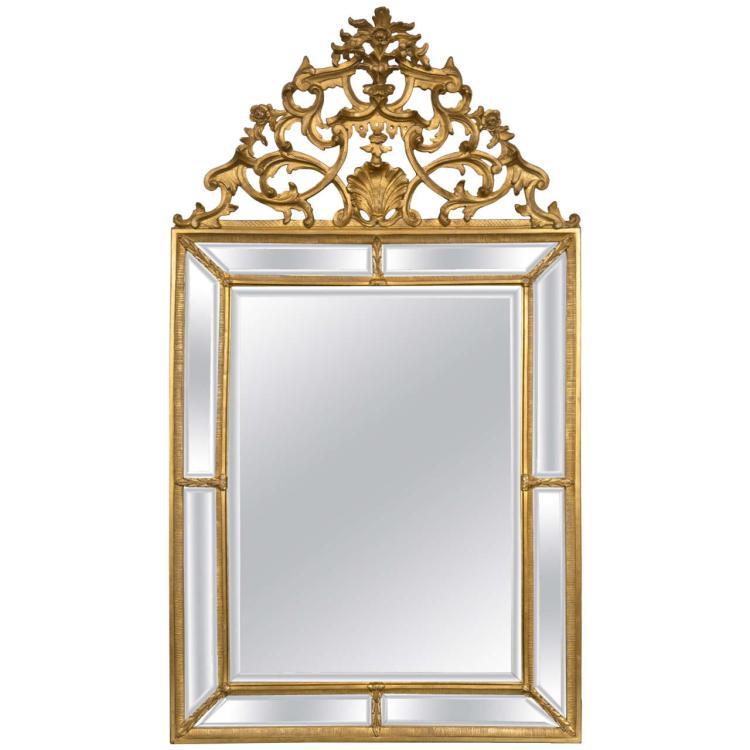 Italian Palatial Gilt Wall/Console Mirror