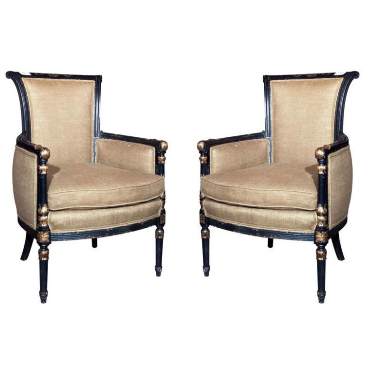 Pair or Maison Jansen Arm Chairs