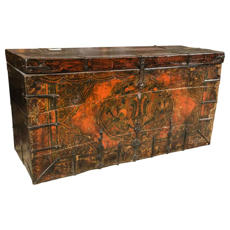 Chinese Trunk or Dowry or Blanket Chest