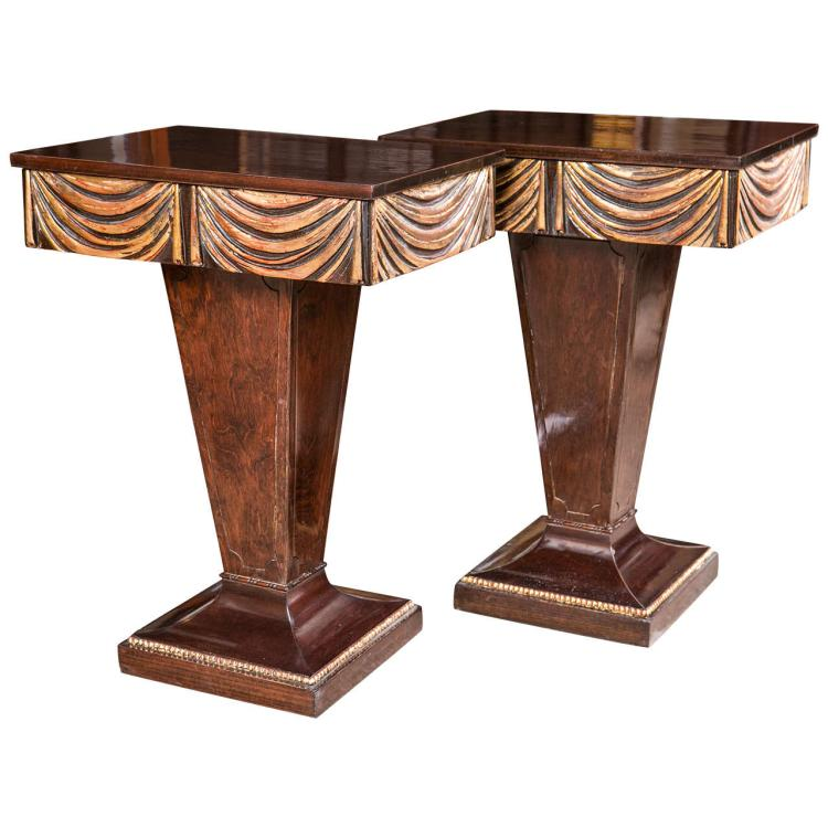 Pair of Hollywood Regency Grosfeld House End Tables