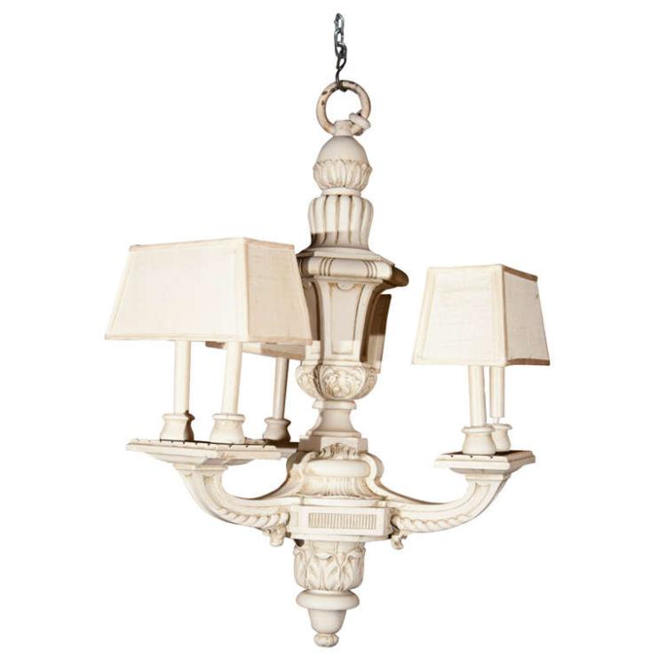 Maison Jansen Six Light Chandelier