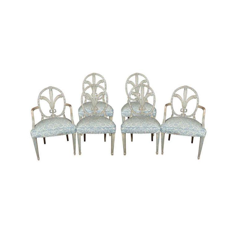 Maison Jansen Set of 6 Dining Chairs