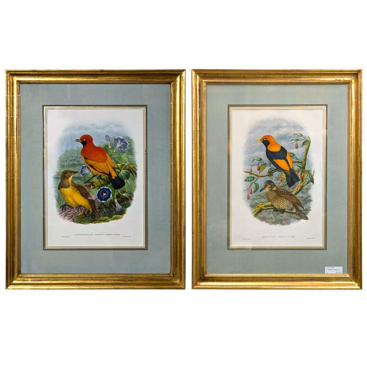 A Fine Pair Of Wonderfully Framed Lithographs
