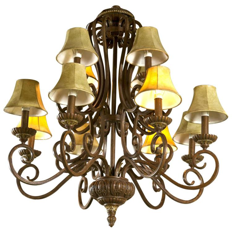 Iron 12-Light Chandelier