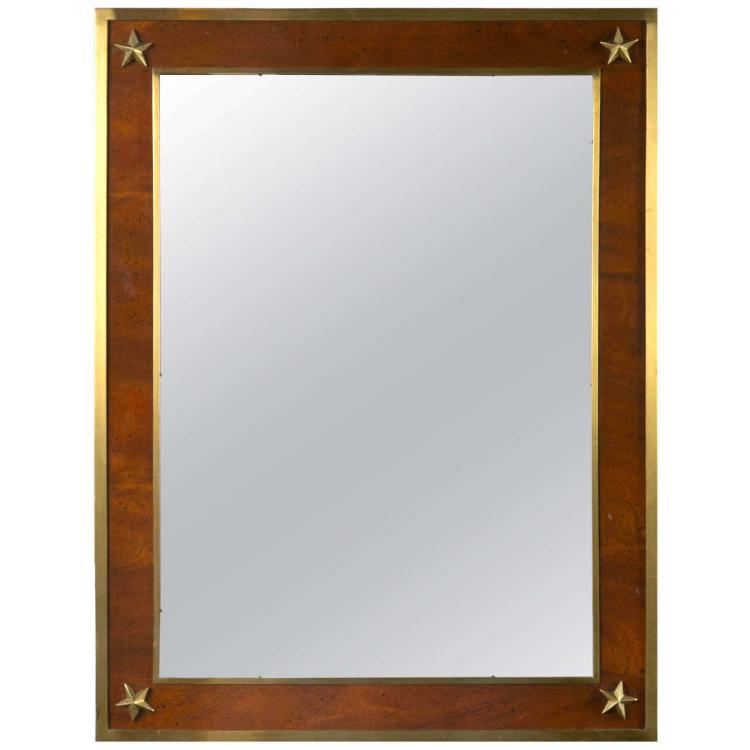 A Russian Neoclassical Bronze Mounted Mirror