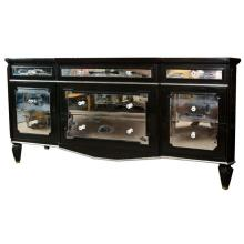 Ebonized and MIrrored Dresser