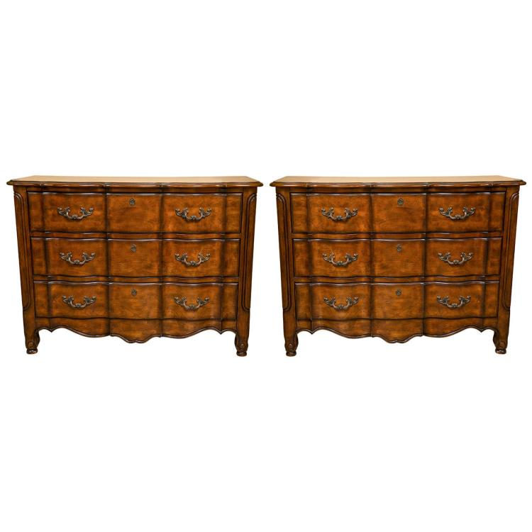 Fine Pair of Haley E Carter Bachelor Chests, Limited Edition