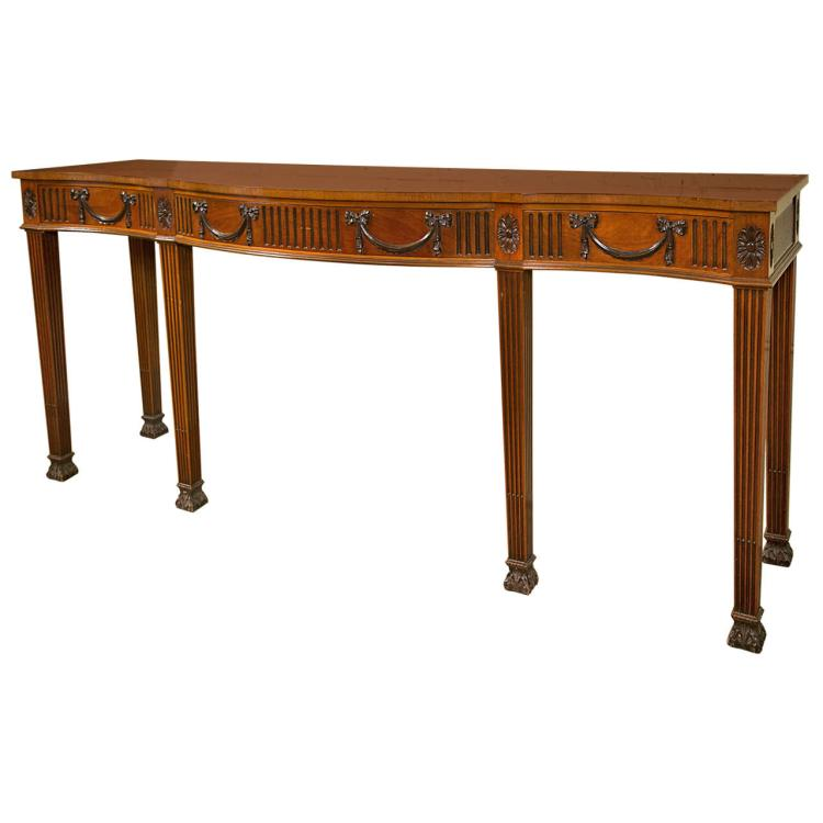 Georgian Mahogany Console or Serving Table