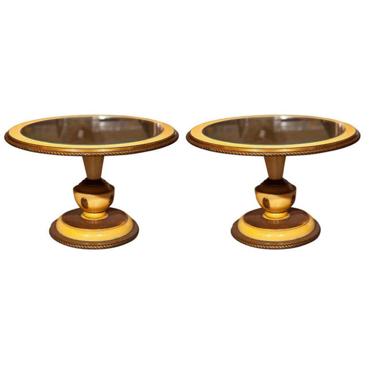 Pair of Circular Low Tables