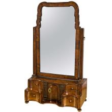 19th C. English Georgian Style Dressing Table Mirror