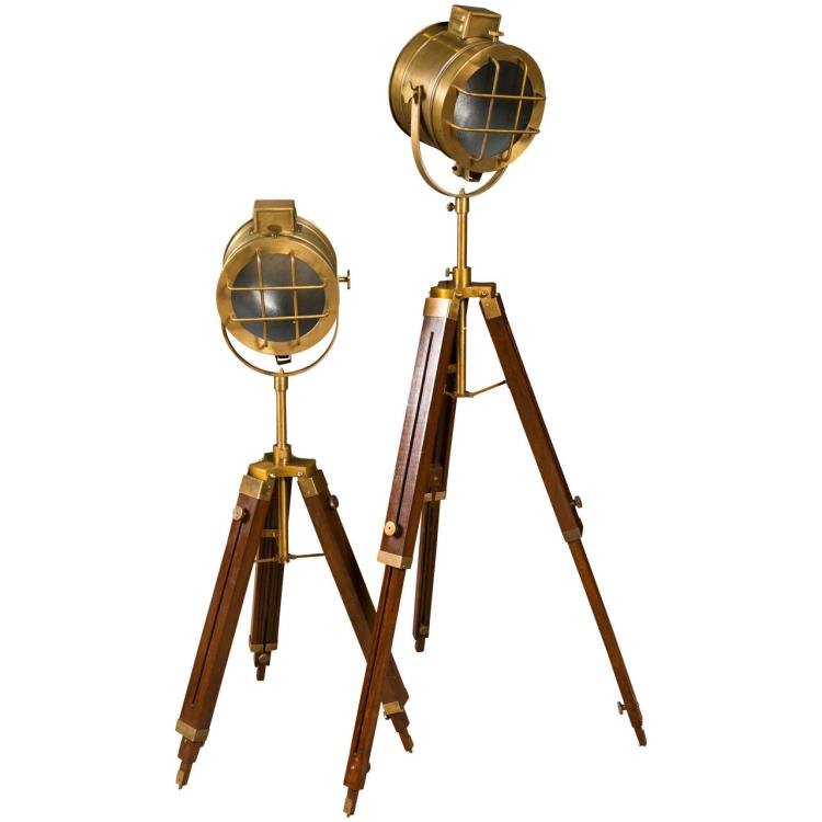 Pair of Industrial Style Search Lights