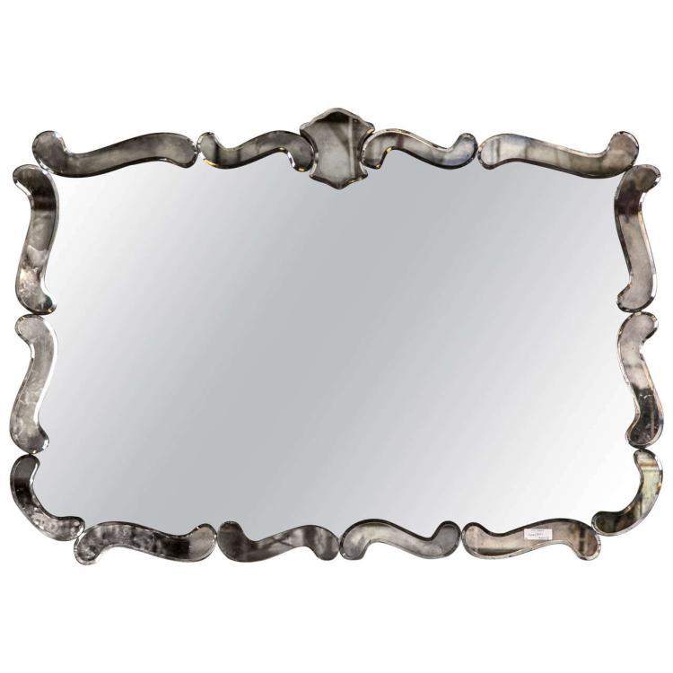 A Vintage Art Deco Mirror